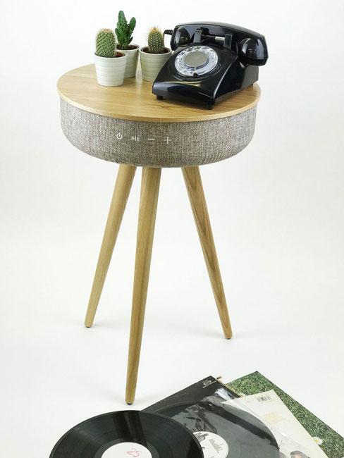 3. Tabblue midcentury speaker table by Steepletone