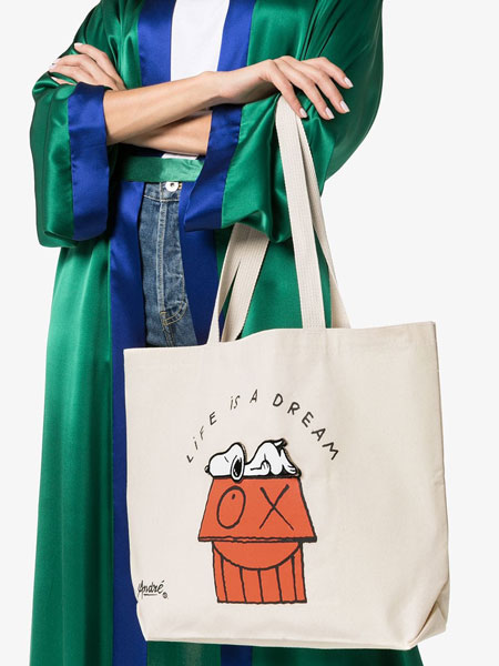 Retro Snoopy tote bags by Pintail at Browns