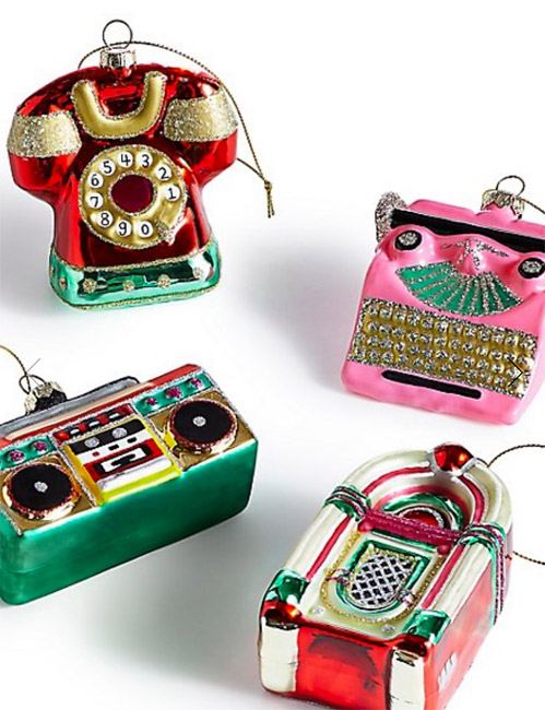 Retro Icons Christmas baubles at Marks and Spencer
