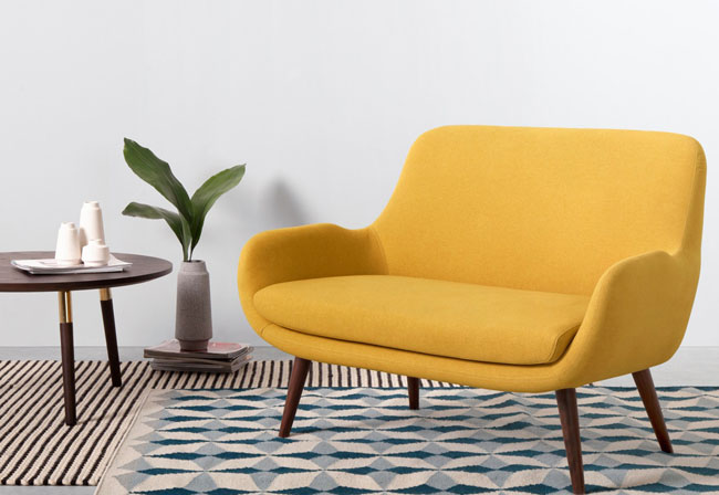 1. Moby two-seater midcentury-style sofa