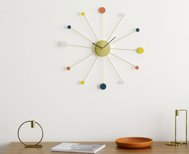 5. George Nelson-inspired Sputnik clock