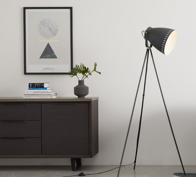 6. Barton tripod floor lamp