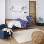 Alfi midcentury modern bench bed for kids at La Redoute