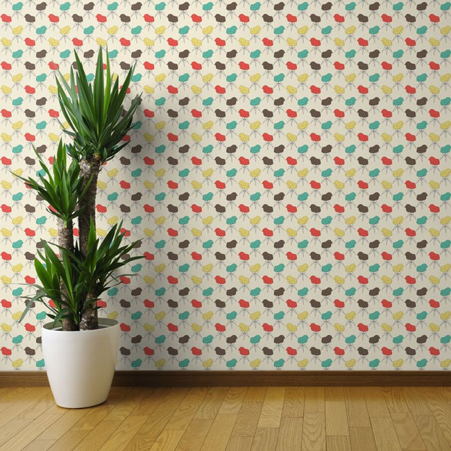 Eames Armchair retro wallpaper by Marketa Stengl