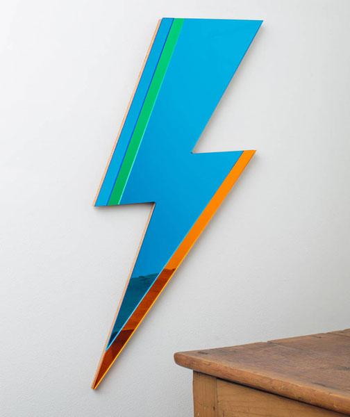Bowie-inspired Lightning Bolt Mirror by Antipodream
