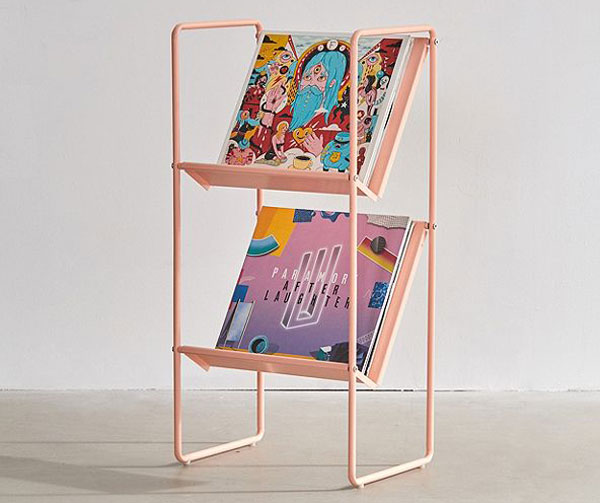 Lola vinyl storage racks at Urban Outfitters