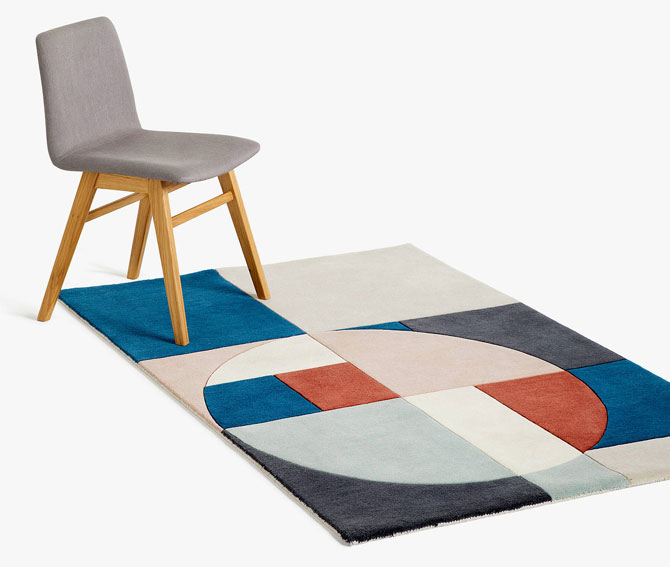 Tia Bauhaus-inspired rugs by John Lewis and Partners