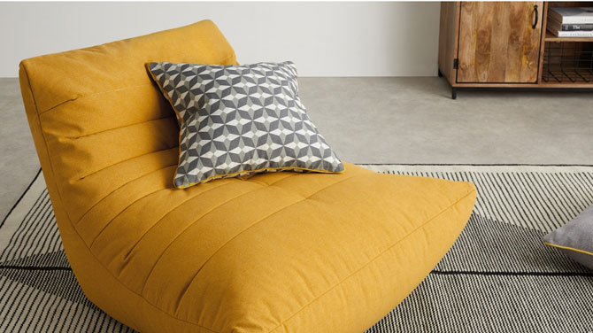 1970s-style Audrie Bean Bag Chair at Made