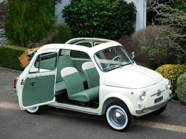 1963 Fiat 500D Trasformabile car on eBay
