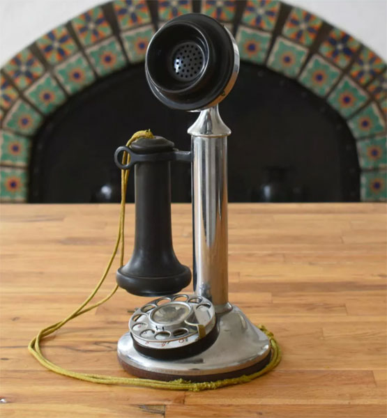 Antique Alexa telephones by Grain Design