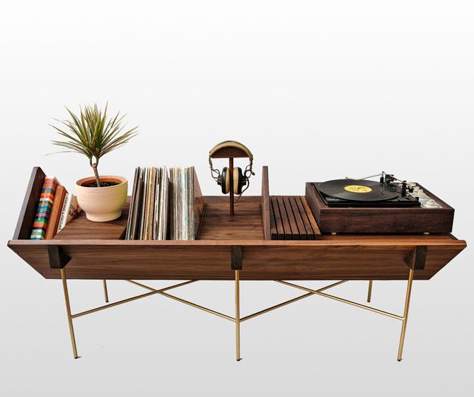 Midcentury Open 45 Credenza vinyl unit by Sitskie