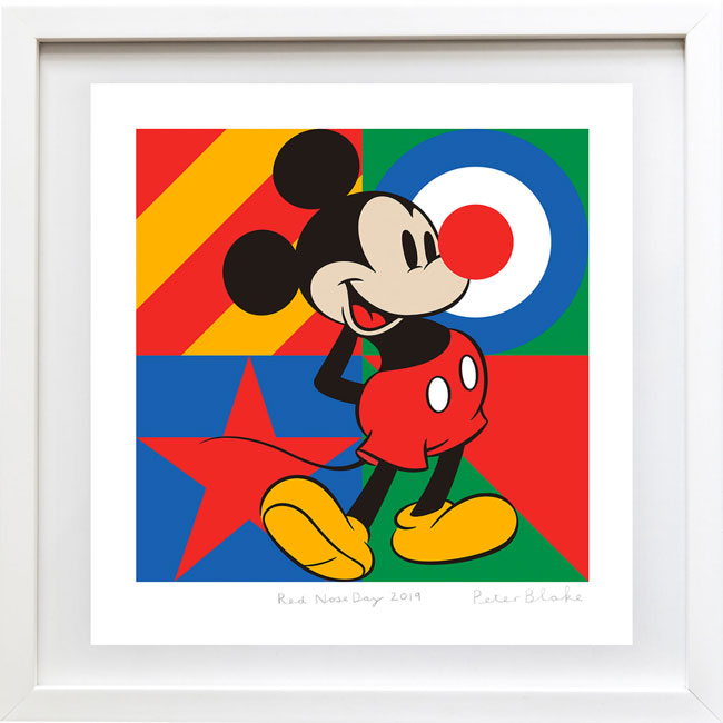 Limited edition Sir Peter Blake Red Nose Day 2019 print at TK Maxx