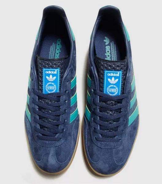 1970s Adidas Gazelle Indoor trainers return in blue