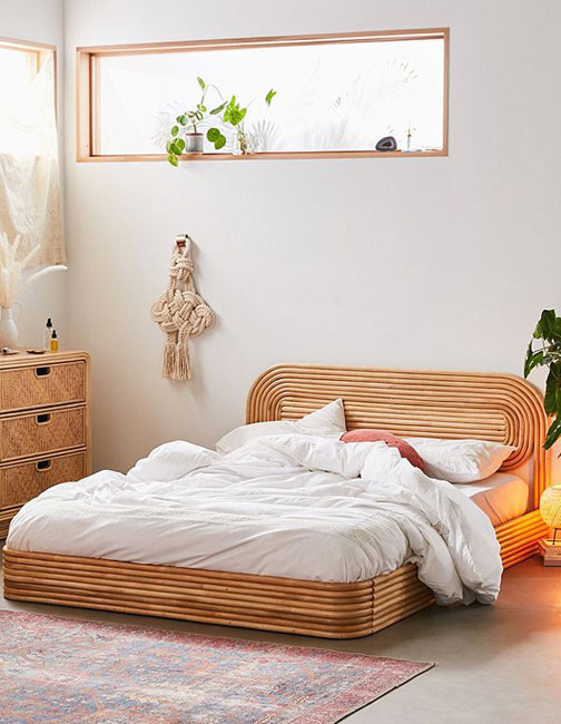 1970s bedroom: Ria furniture range at Urban Outfitters