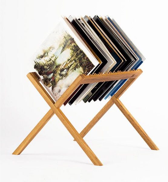 Retro record storage: The Vinyl Stand by HRDL