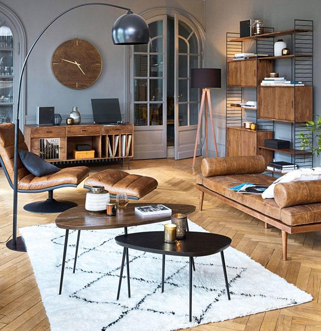 Yucca midcentury modern furniture range at Maisons Du Monde