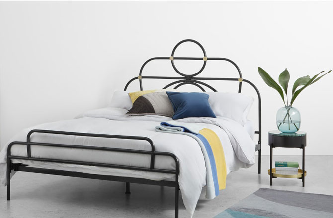 Anthea art deco-style king size bed at Made