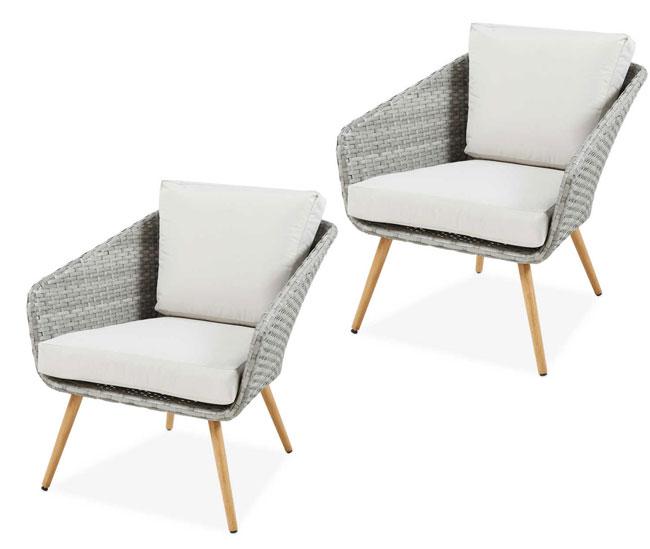 Midcentury modern-style garden furniture at Aldi