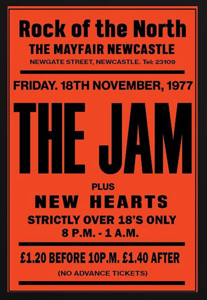 1960s and 1960s replica gig posters by Bad Moon Prints