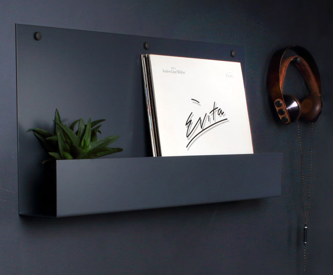 Vinyl holder display shelving by The Urban Editions
