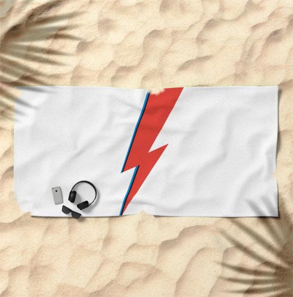 David Bowie lightning bolt outdoor range at Society 6