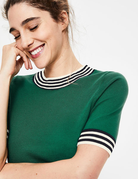 Vintage-style knitted t-shirts at Boden