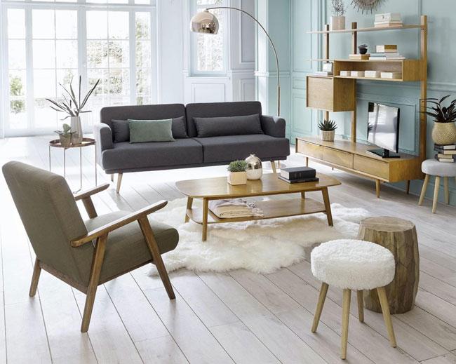 Portobello midcentury modern furniture range at Maisons Du Monde