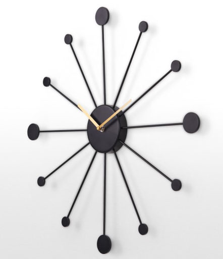 George Nelson-style Sputnik wall clock at Made