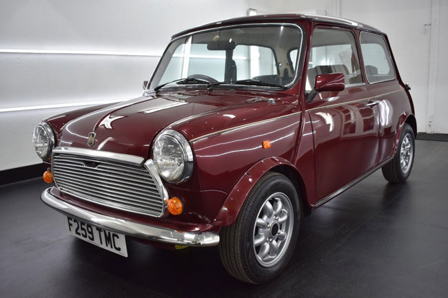 Restored 30th anniversary Austin Mini on eBay