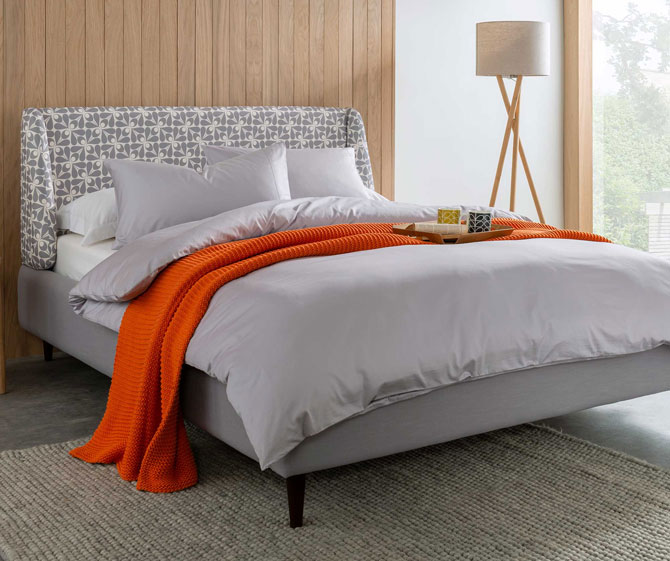 Orla Kiely beds at Barker and Stonehouse