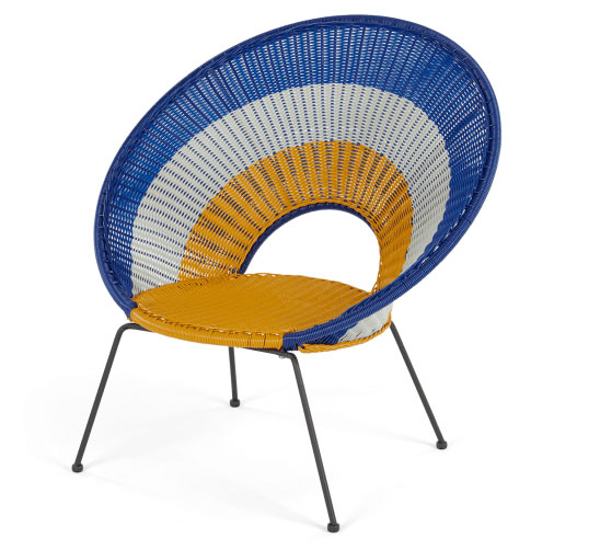 Yuri retro target garden lounge chair at Made