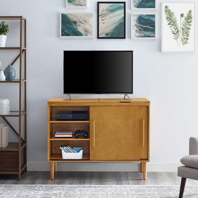 Crosley Everett midcentury modern media consoles