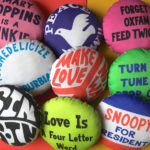 1960s counterculture badge cushions by You Make Me Design