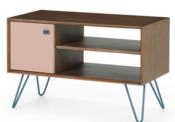 Dotty retro furniture range with hairpin legs at Made