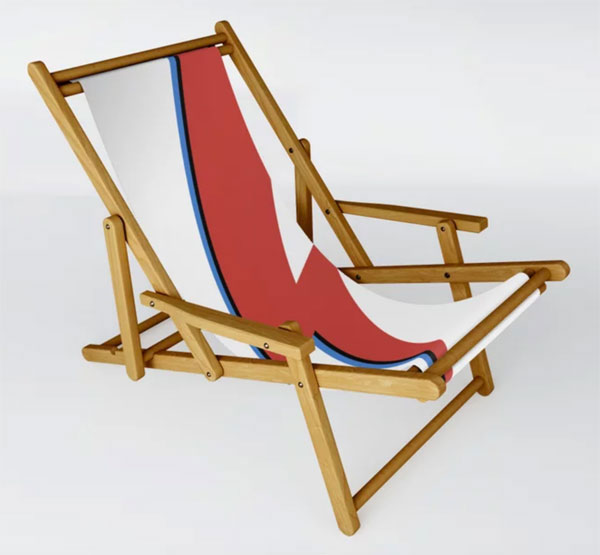 7. David Bowie lightning bolt deckchair at Society 6