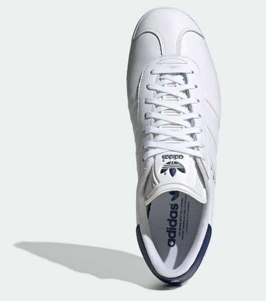 Adidas Gazelle trainers get a stylish white leather reissue ...