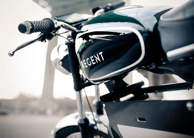 1960s-style Regent No. 1 electric motorcycle by Regent
