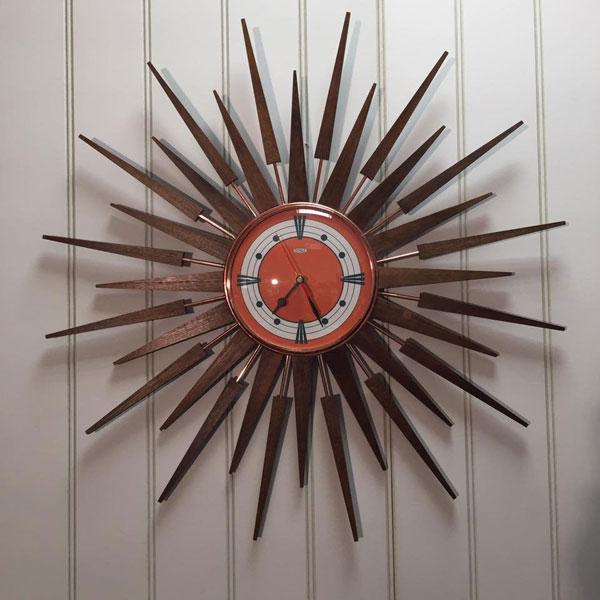 Authentic midcentury modern clocks by Royale Enamel