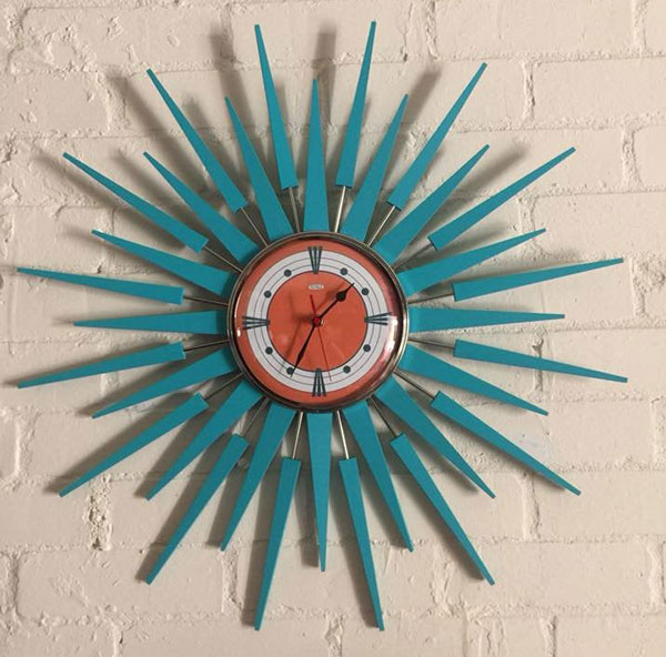Authentic midcentury modern clocks by Royale Enamel