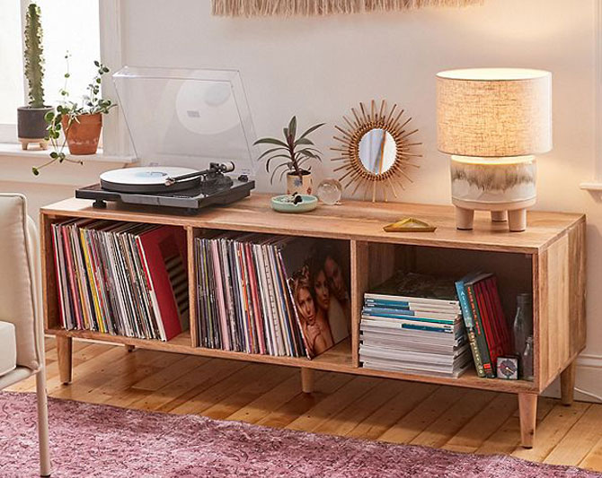 Amelia retro vinyl credenza at Urban Outfitters