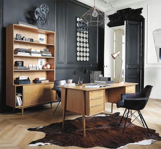 11. Portobello solid oak vintage desk at Maisons Du Monde