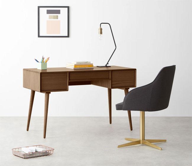 12. Glenn midcentury modern desk at Made