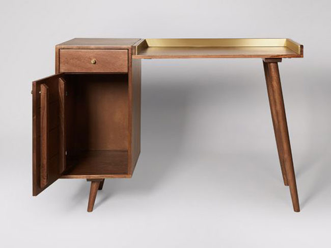 14. Fresco wood and brand desk at Swoon
