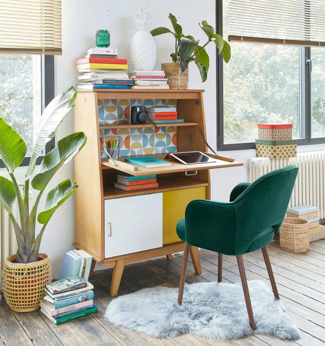 18. Paulette midcentury modern writing desk at Maisons Du Monde
