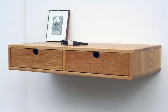 25. Midcentury modern floating oak desk by Woenwood