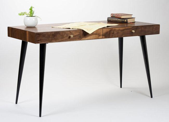 27. Handmade walnut desk by Kavg Studio