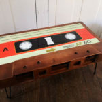 Handmade retro cassette coffee table by Cambrewood
