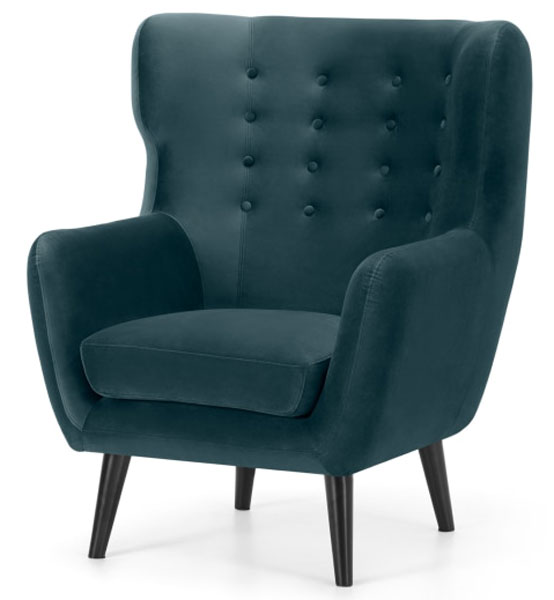 Kubrick midcentury modern wing back chair at Made