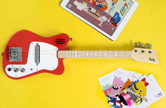 1960s Loog guitars for kids with built-in amps