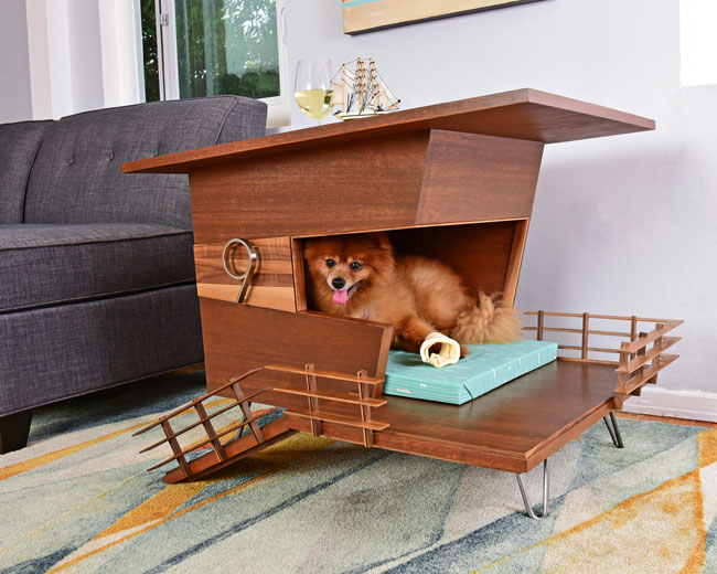 Midcentury modern dog houses by Pijuan Design